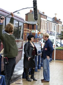 Gavin and Stacey filming in Barry