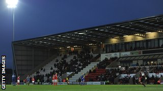 Globe Arena, home of Morecambe