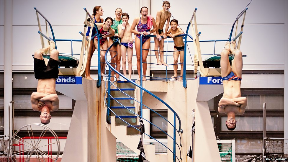 Bbc News In Pictures Swimmers And Divers At Ponds Forge In Sheffield