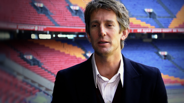Ajax marketing director Edwin Van der Sar