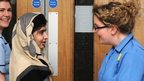 Malala Yousufzai thanks nurses