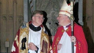 Jeffrey John with  Bishop The Right Rev Christopher Herbert