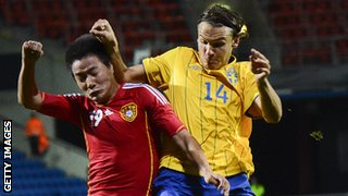 China play Sweden