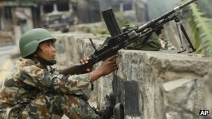 Nepalese soldier in 2005