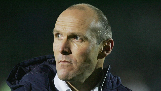 Harriers manager Steve Burr