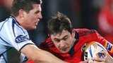 Richard Smith of Cardiff and Munster's Felix Jones