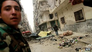 Rebel fighters in Aleppo. 5 Jan 2013