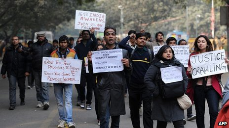 Protest in Delhi. 6 Jan 2013