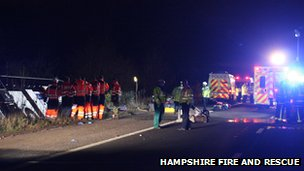 Crash scene on M3