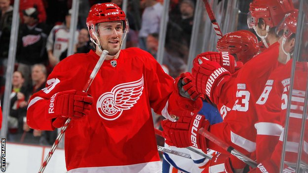 Drew Miller has returned to Detroit Redwings