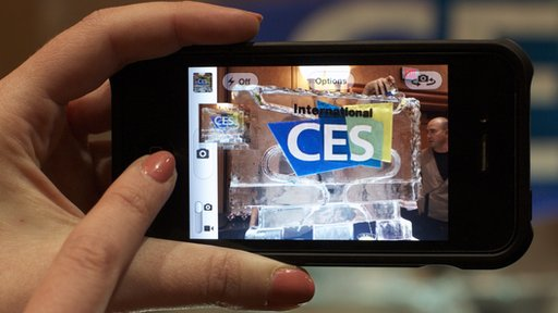 Smartphone with CES logo