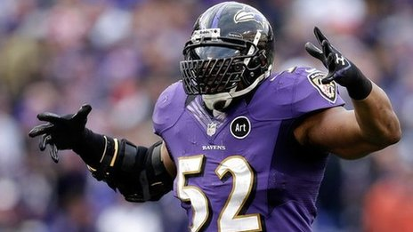 Ray Lewis of the Baltimore Ravens
