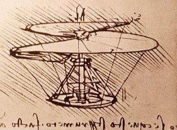 Da Vinci's helicopter sketch