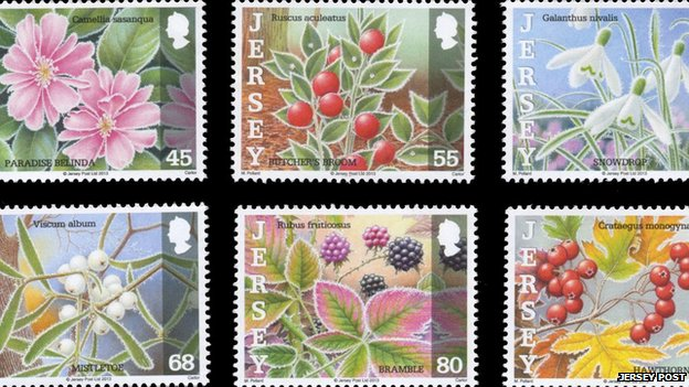 Jersey Post winter flower stamps