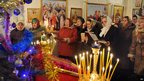 Christmas service in town of Verbovichi, south-east of Minsk. 6 Jan 2013