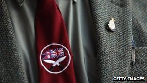 Gurkha tie and lapel badge