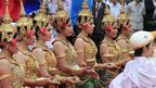 Cambodian dancers in Phnom Penh on 7/1/13
