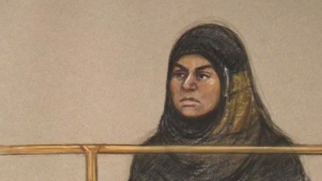 Sara Ege in court sketch
