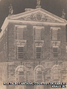 Calotype negative of Queen's College, Oxford