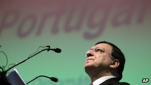 Jose Manuel Barroso speaking in Lisbon