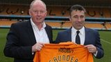 Wolves owner Steve Morgan and new manager Dean Saunders at Molineux