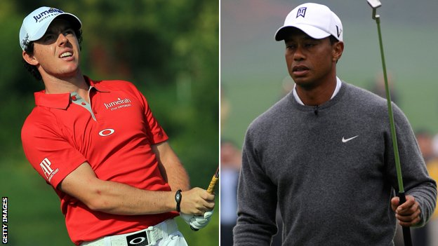 Rory McIlroy (left) and T