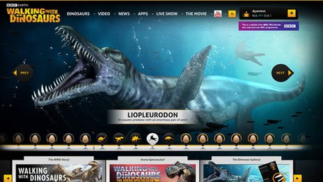 Walking with Dinosaurs website