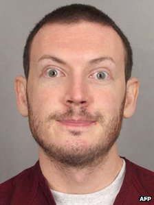 A hand-out photo of James Holmes from the Arapahoe County Sheriff's Office (20 September 2012)