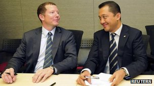 Bumi&#039;s Nathaniel Rothschild and Bakrie Brothers Chief Executive Officer Bobby Gafur Umar
