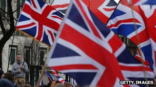 Union flag protest in Belfast