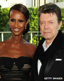 David Bowie with his wife model Iman