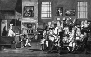 Coffee house, 1660s