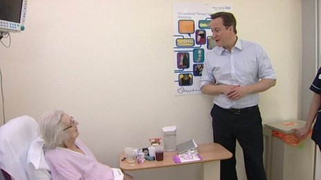 David Cameron at Royal Derby Hospital