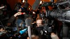 French actor Gerard Depardieu's lawyer Eric de Caumont speaks to reporters outside court