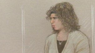Court sketch of Nicola Edgington