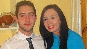 Paul Meehan and his girlfriend