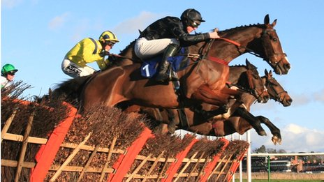 Jump racing at Warwick