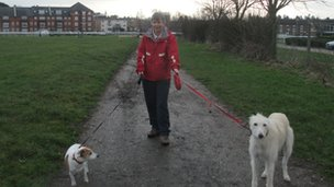 Elizabeth Wassall  with Ziggy and Troy