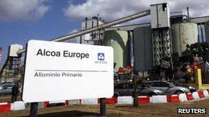 Alcoa's aluminium plant in Sardinia
