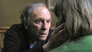 Jean-Louis Trintignant with Emmanuelle Riva in Amour