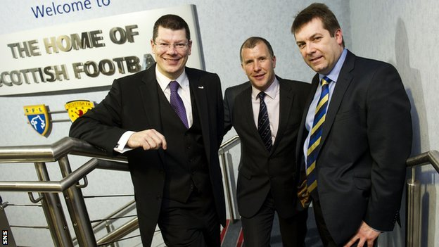 Neil Doncaster, Stewart Regan and David Longmuir