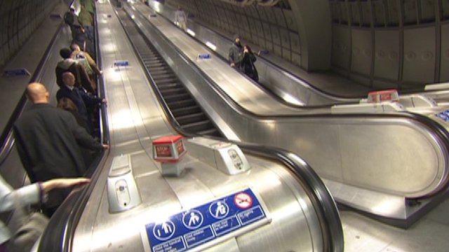 Escalator on the Underground
