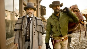 Christoph Waltz and Jamie Foxx from Django Unchained