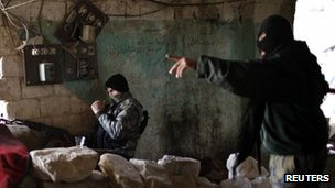 Jabhat al-Nusra fighters in Aleppo, Syria. Photo: December 2012