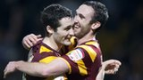 Carl McHugh (left) and Rory McArdle celebrate
