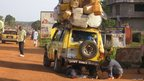A broken down car piled with luggage in Liberia (Photo: BBC News website reader Hubert Simmer)