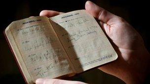 One of Virginia Woolf's diaries