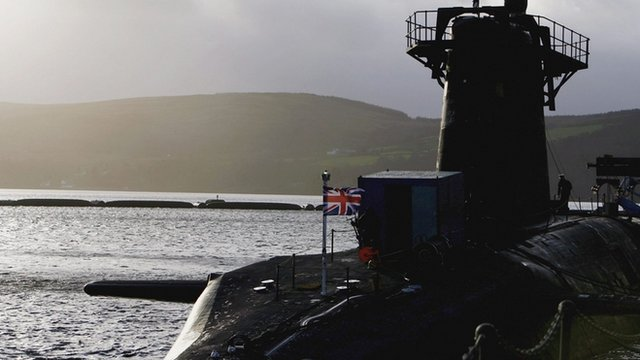 Submarine at Faslane