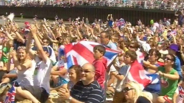 Crowds on Weymouth Beach