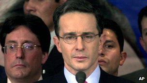 Colombia&#039;s former president Alvaro Uribe